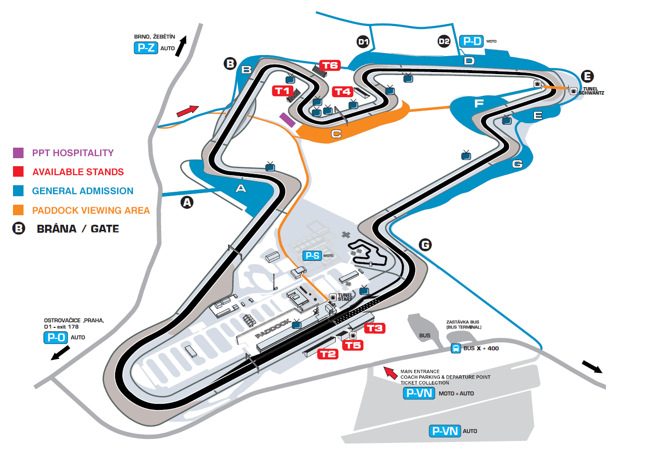 MotoGP Brno - VIP and grandstand tickets, paddock experience